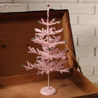 Retro Pink Tree with Beads