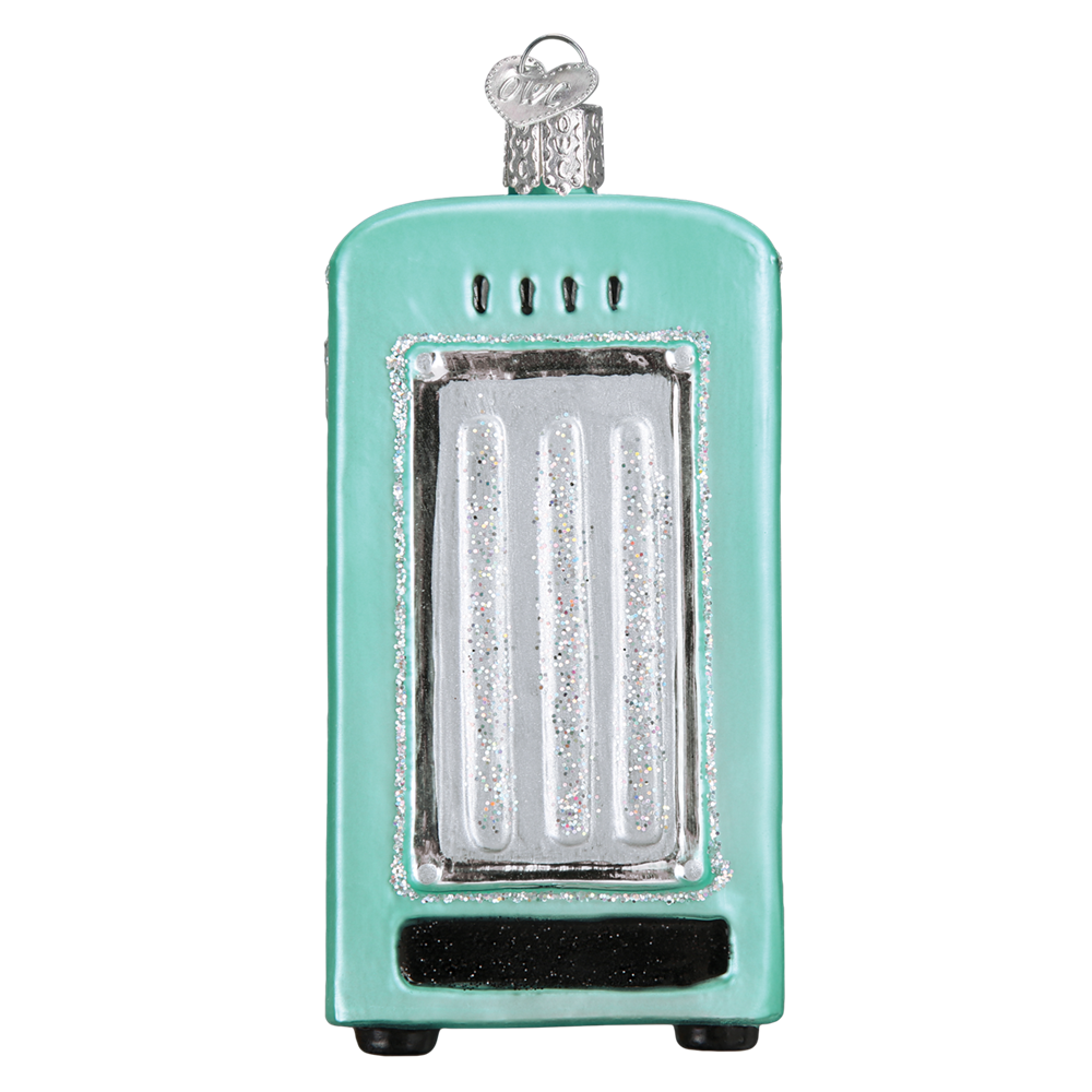 Turquoise Refrigerator Christmas Ornament