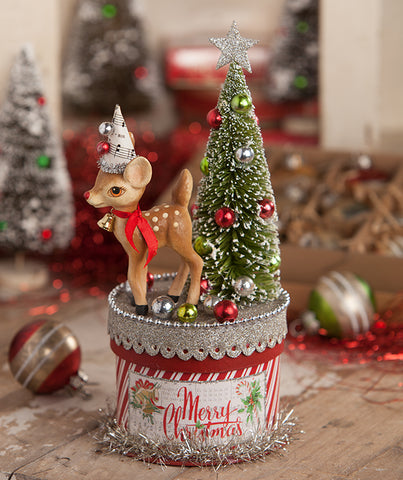 retro deer on box by bethany lowe - Vintage Christmas Decorations