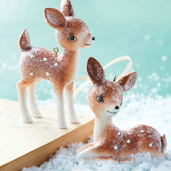 Retro Reindeer Ornaments