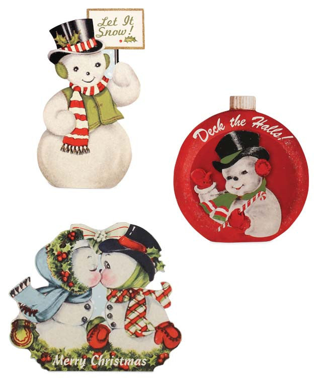 Retro Snowmen Dummy Boards - Vintage Christmas