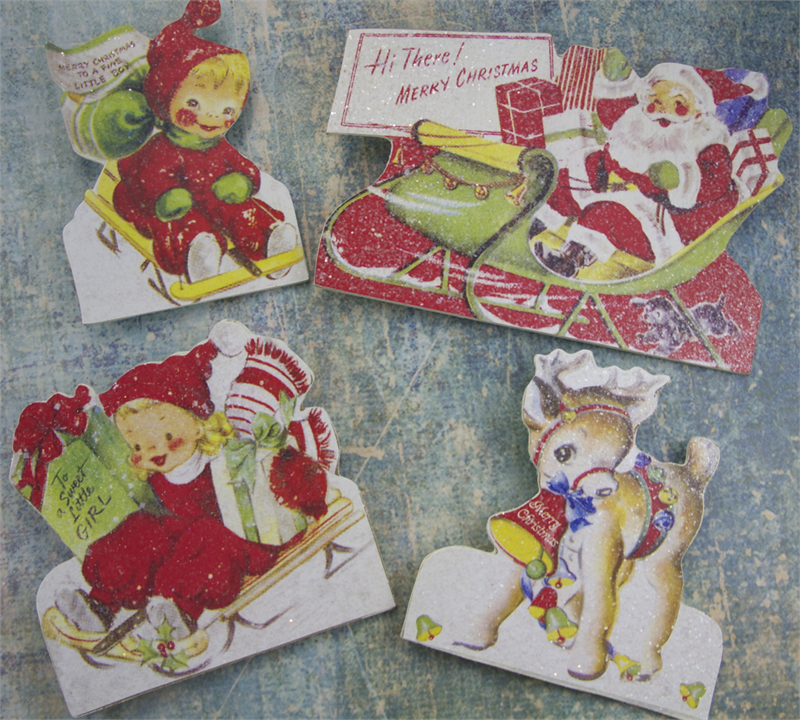 Retro Christmas Dummy Board Set