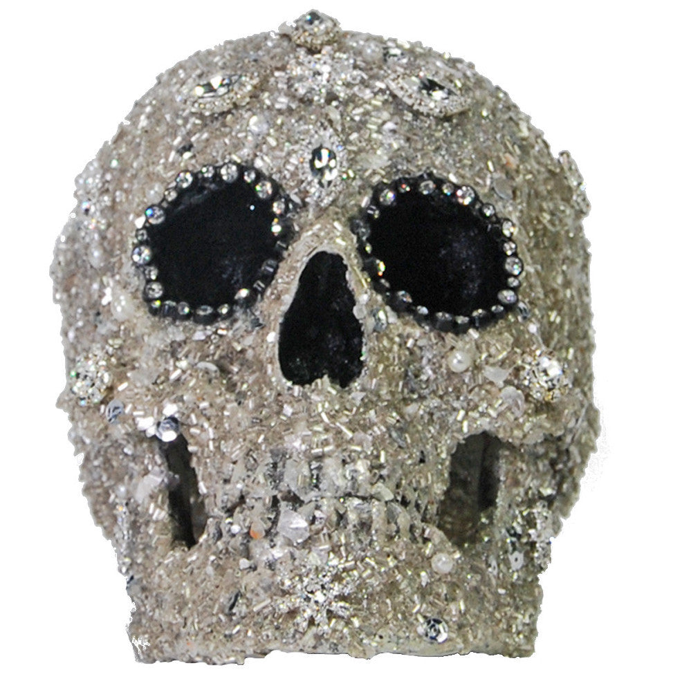 Rhinestone Skull Halloween Prop - Sophisticated Halloween Decorations