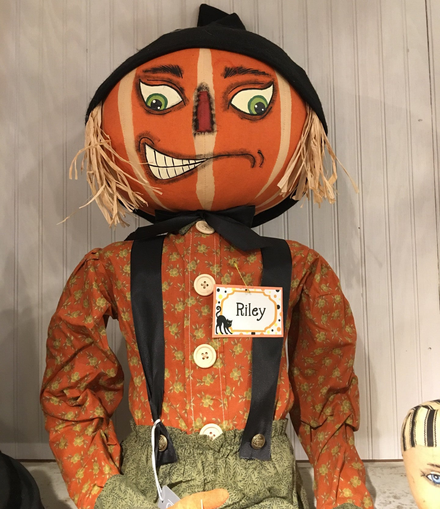 Riley Scarecrow Pumpkin Head