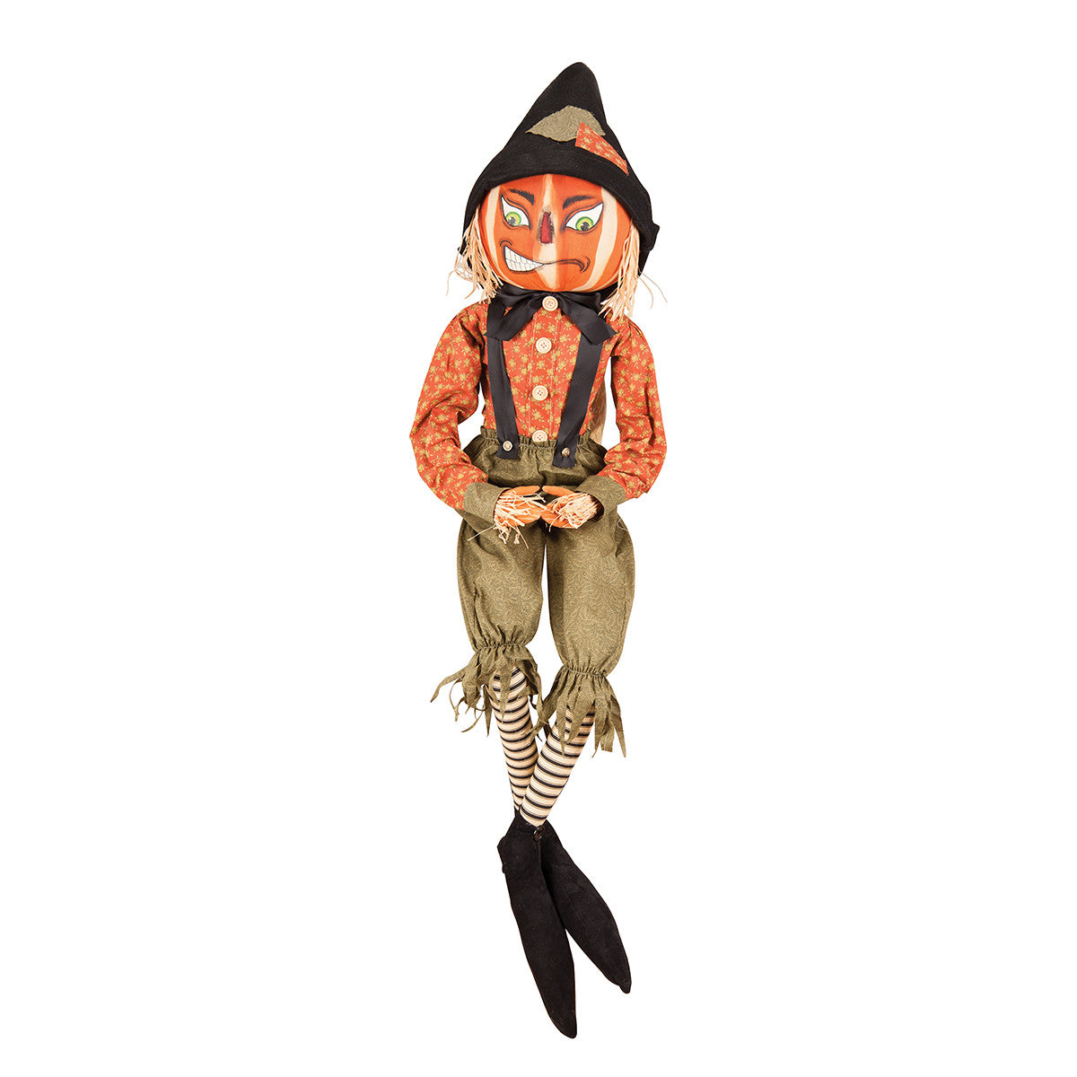 Riley Scarecrow Pumpkin Man Cloth Halloween Doll by Joe Spencer