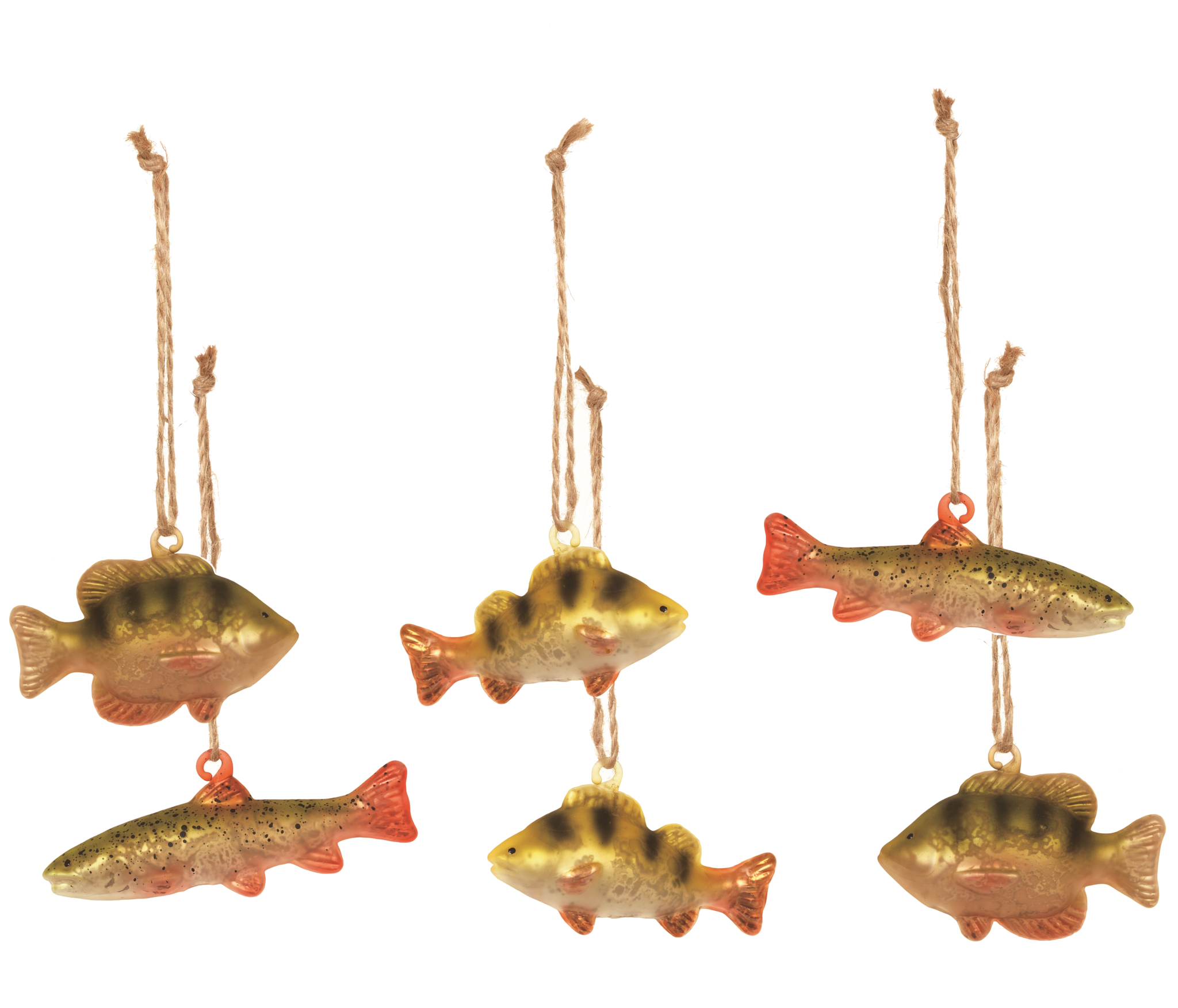glass river fish christmas ornaments - Fish Christmas Ornaments