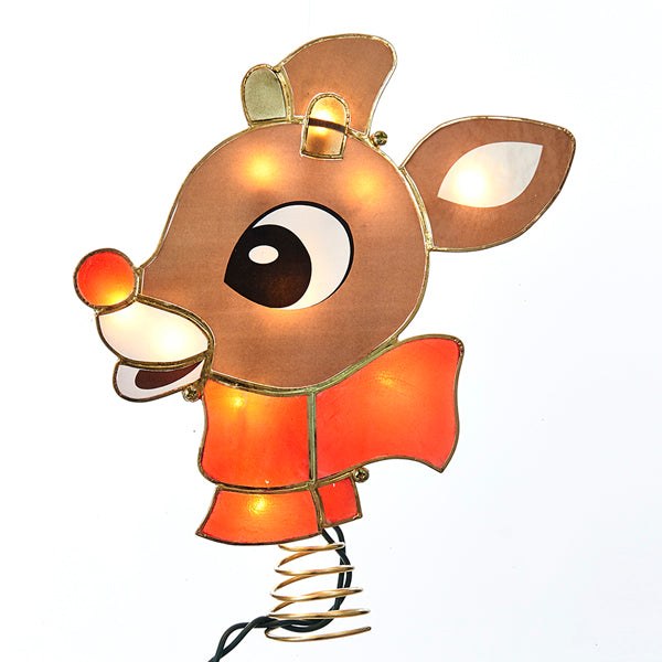 Rudolph the Red Nosed Reindeer Tree Topper - Lighted