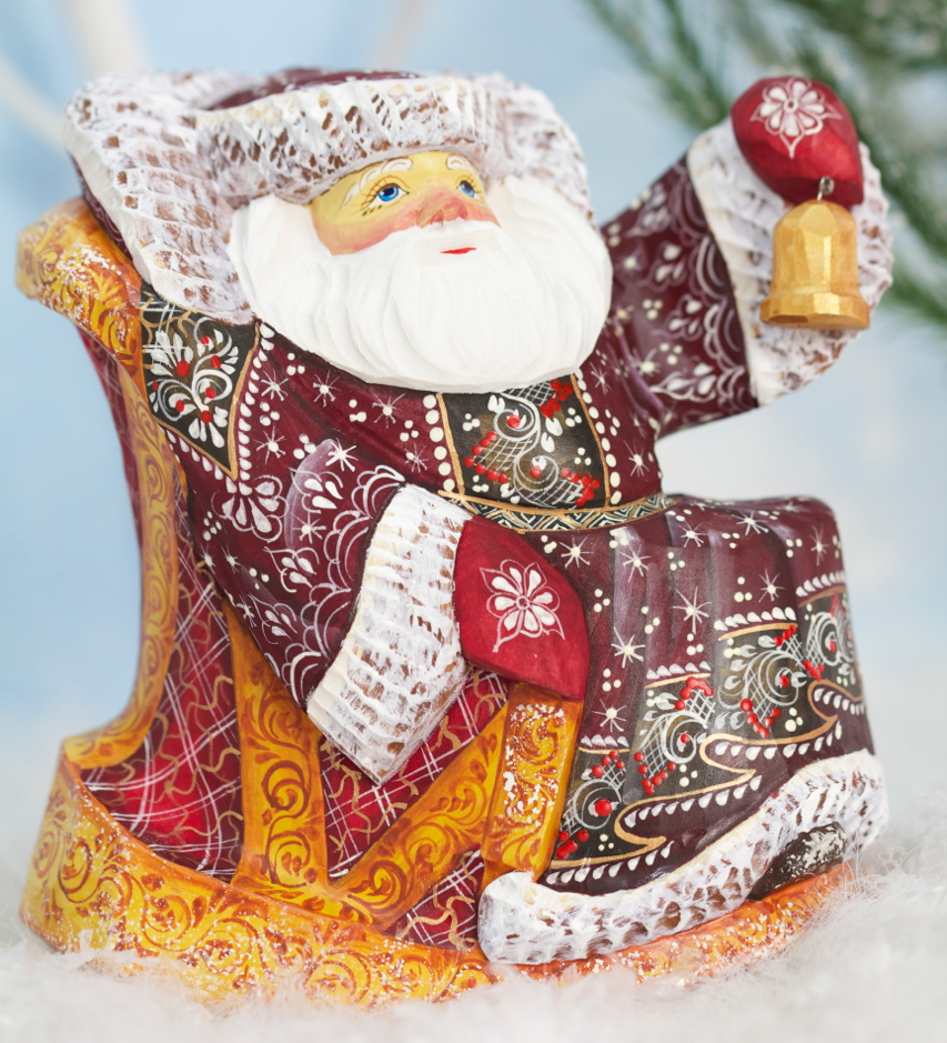 Russian Santa in Rocking Chair