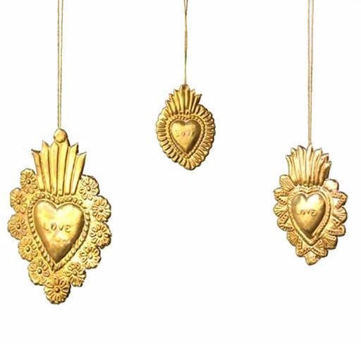 Brass Sacred Heart Ornaments