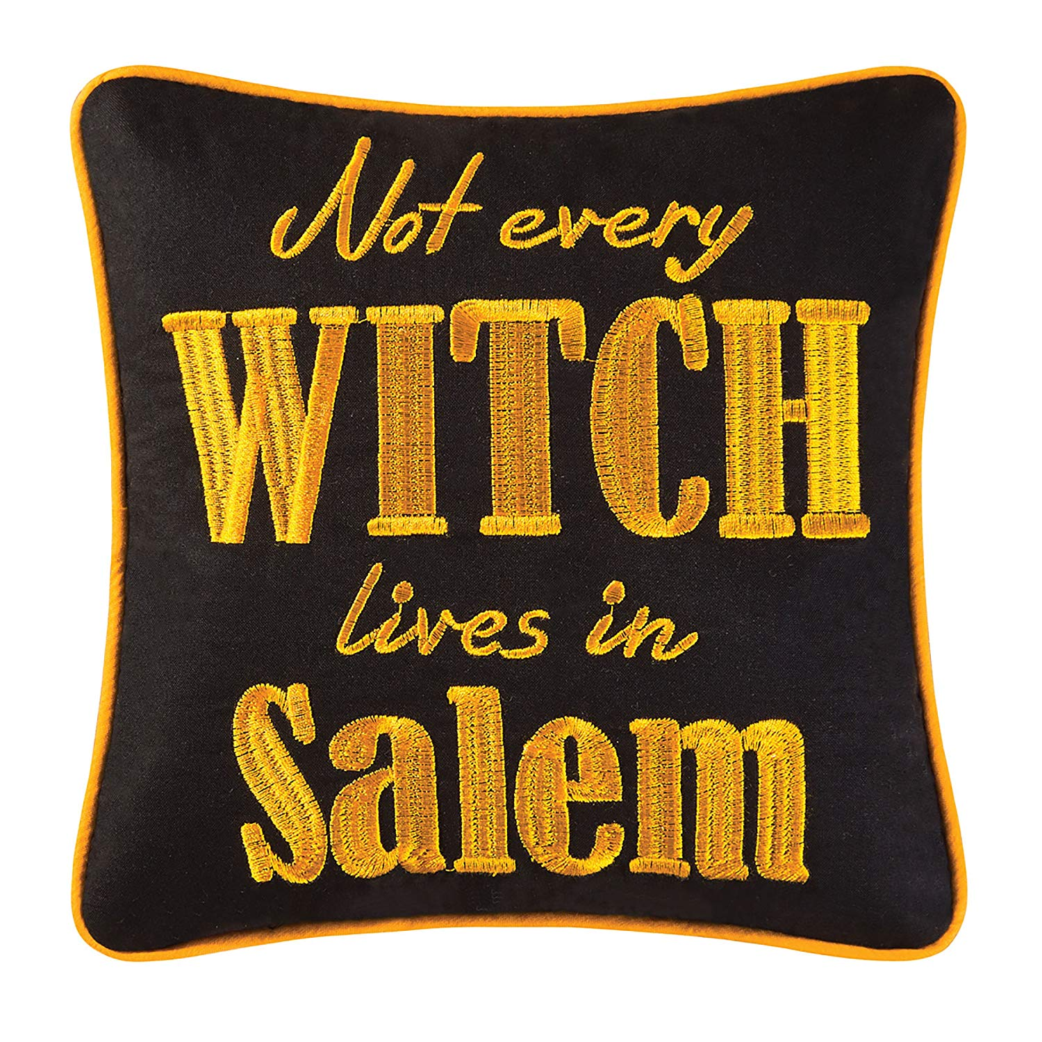 Salem Witch Pillow, Not Every Witch Lives in Salem