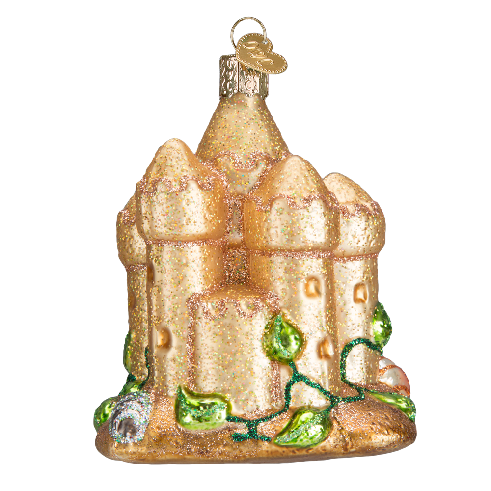 Glass Sand Castle Ornament