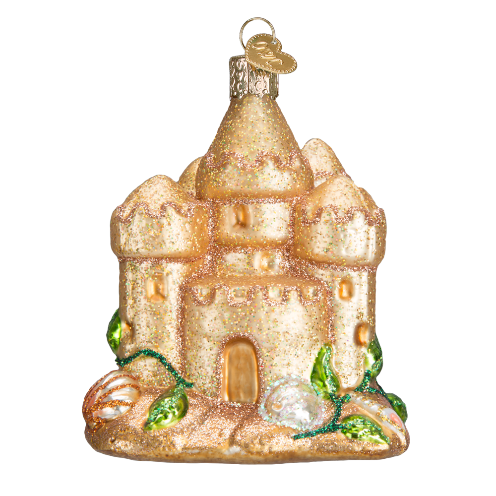 Sand Castle Christmas Ornaments