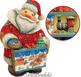 Santa with a Toy Train - Secret Box