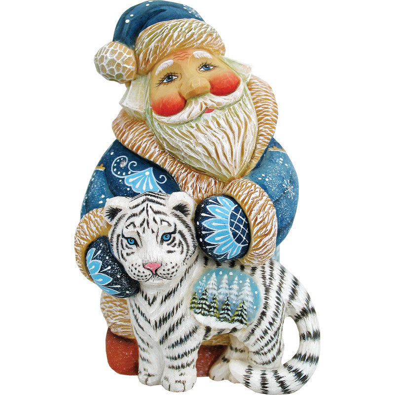 Santa with White Bengal Tiger - G. DeBrekht