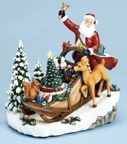 Santa's Sleigh Music Box