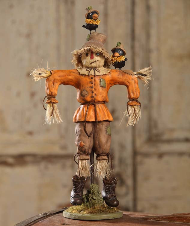 Scarecrow Tablepiece With Crows Figurine Bethany Lowe