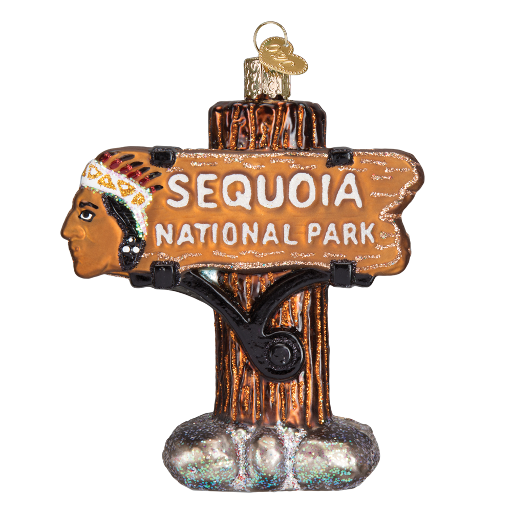 Sequoia National Park Ornament Glass Camping Ornaments Old World Christmas