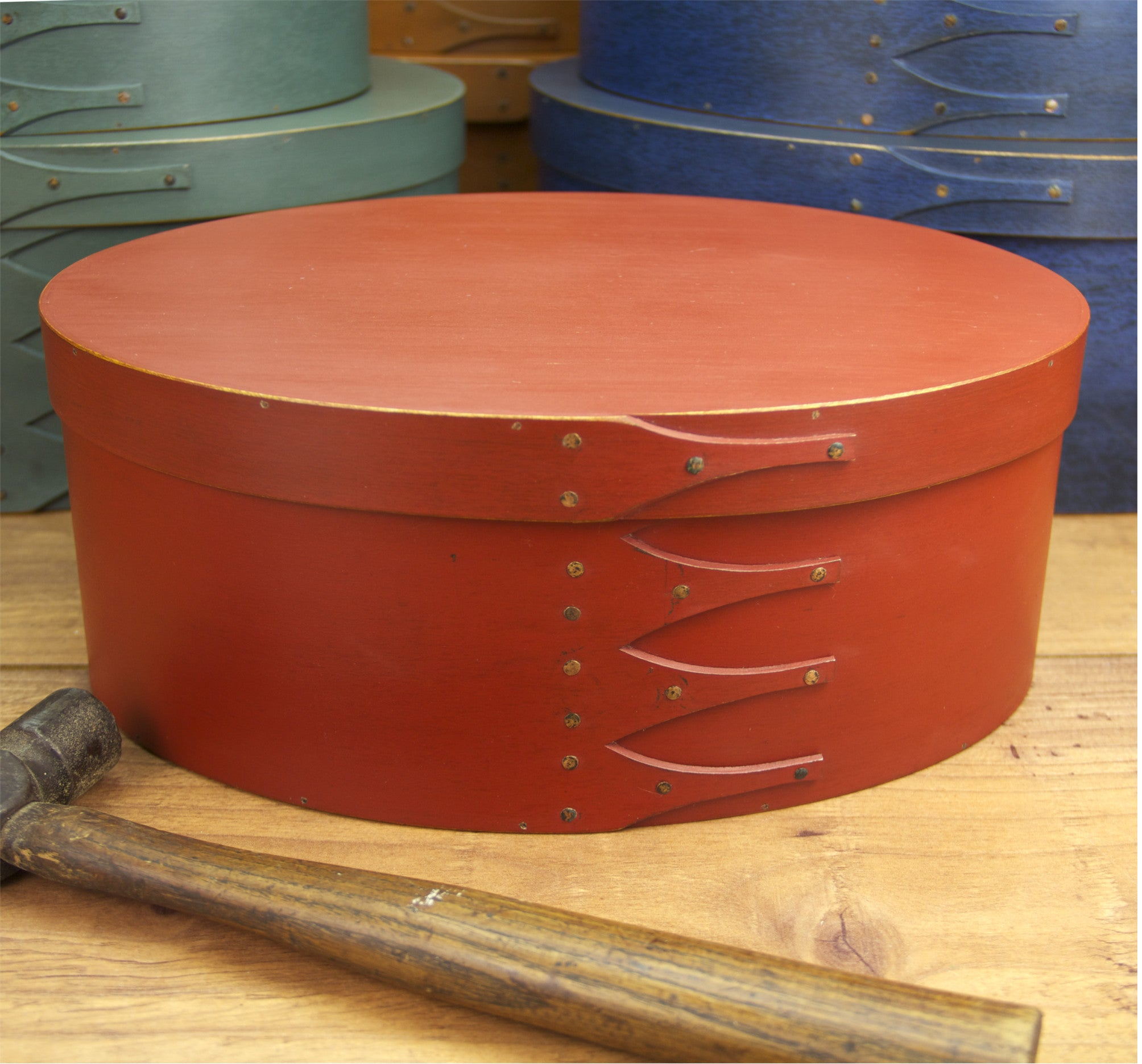 Shaker Box Finished with Red Milk Paint