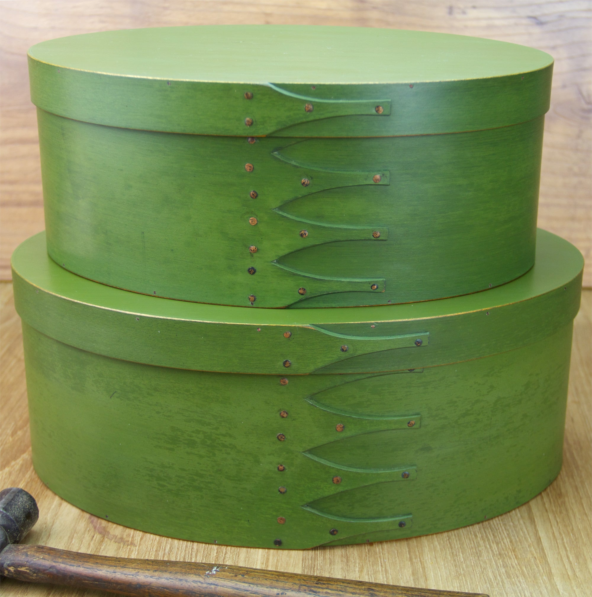 Green Shaker Boxes