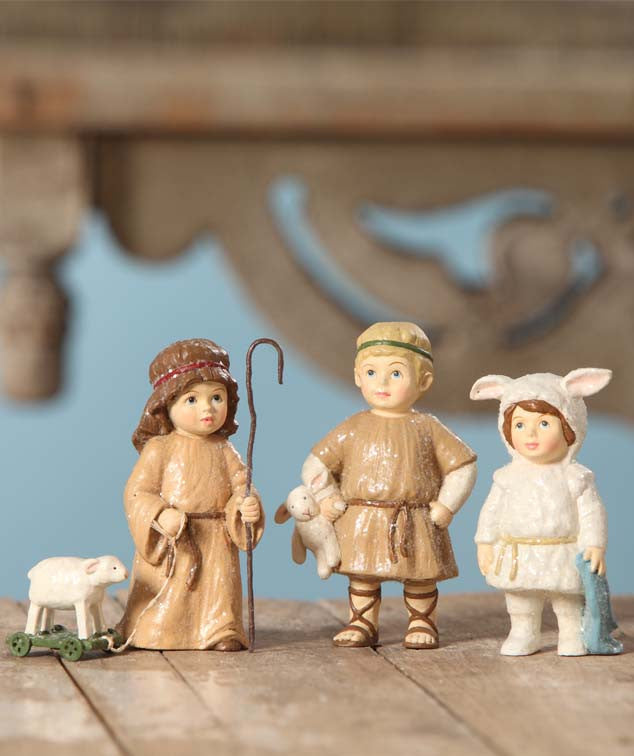 Shepherds & Lost Sheep - Nativity Play Figurines