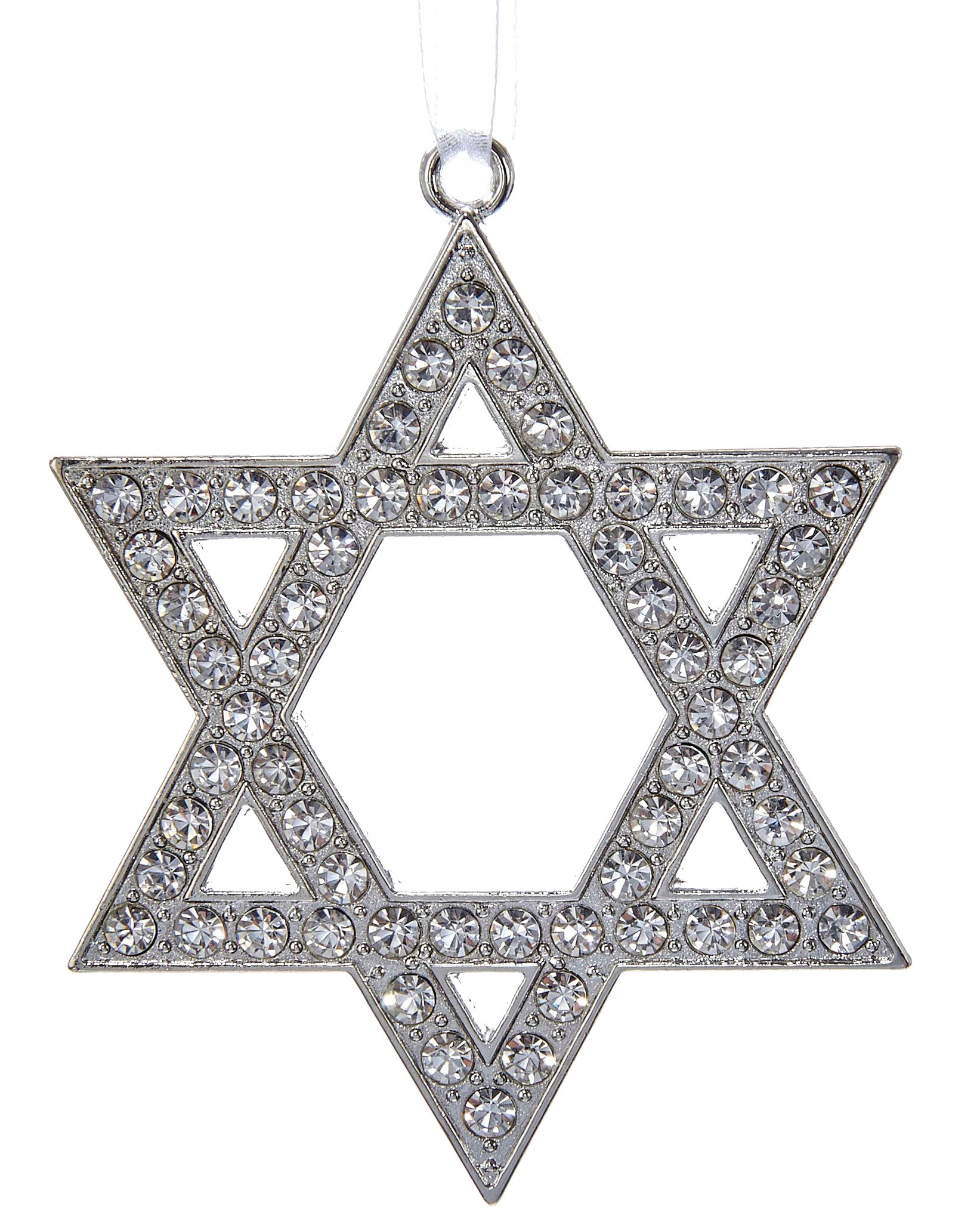 Silver Star of David Ornament