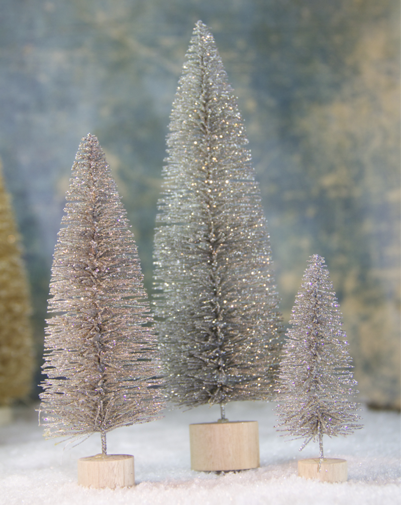 Silver Glitter Trees