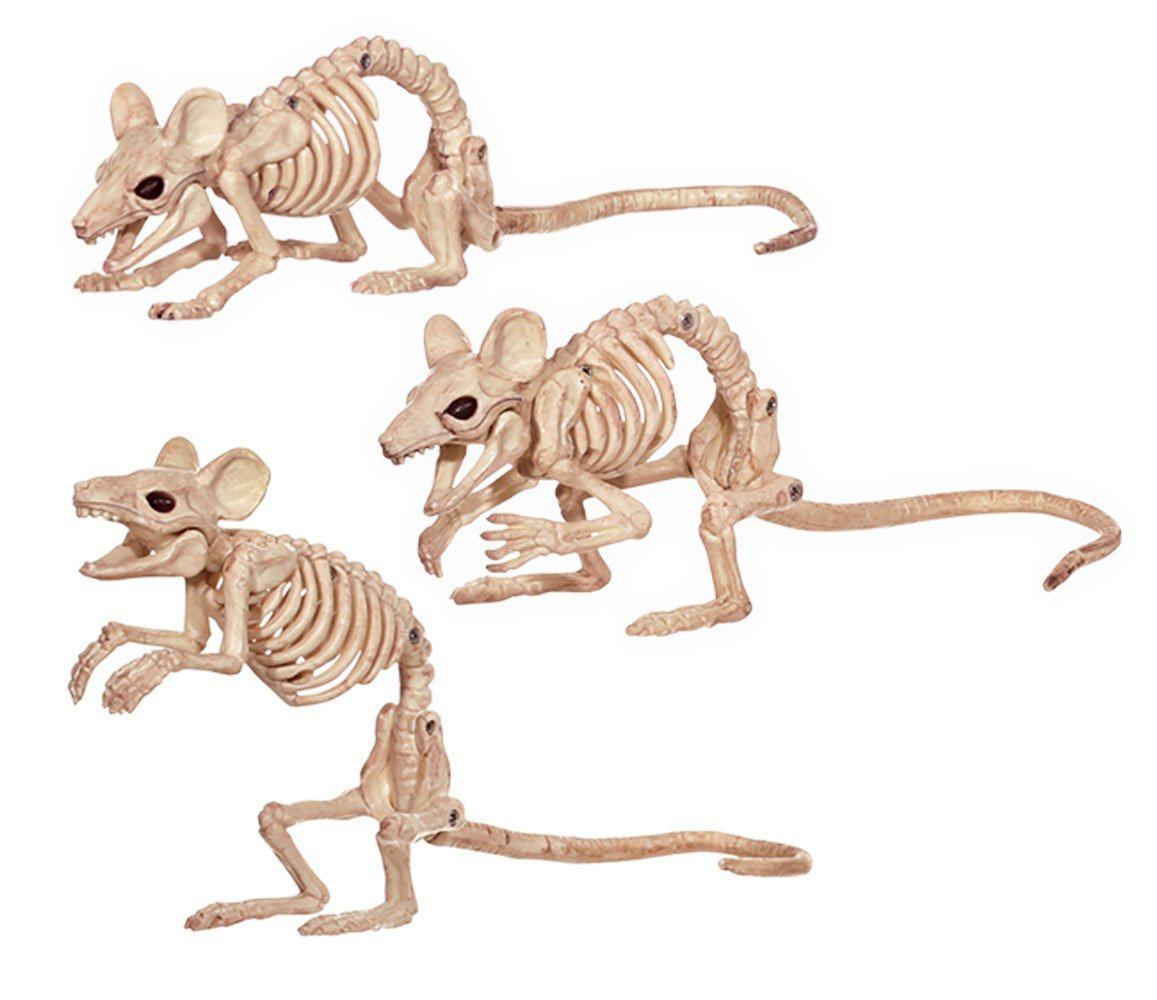 Skeleton Mice Figurines - Mouse Halloween Props