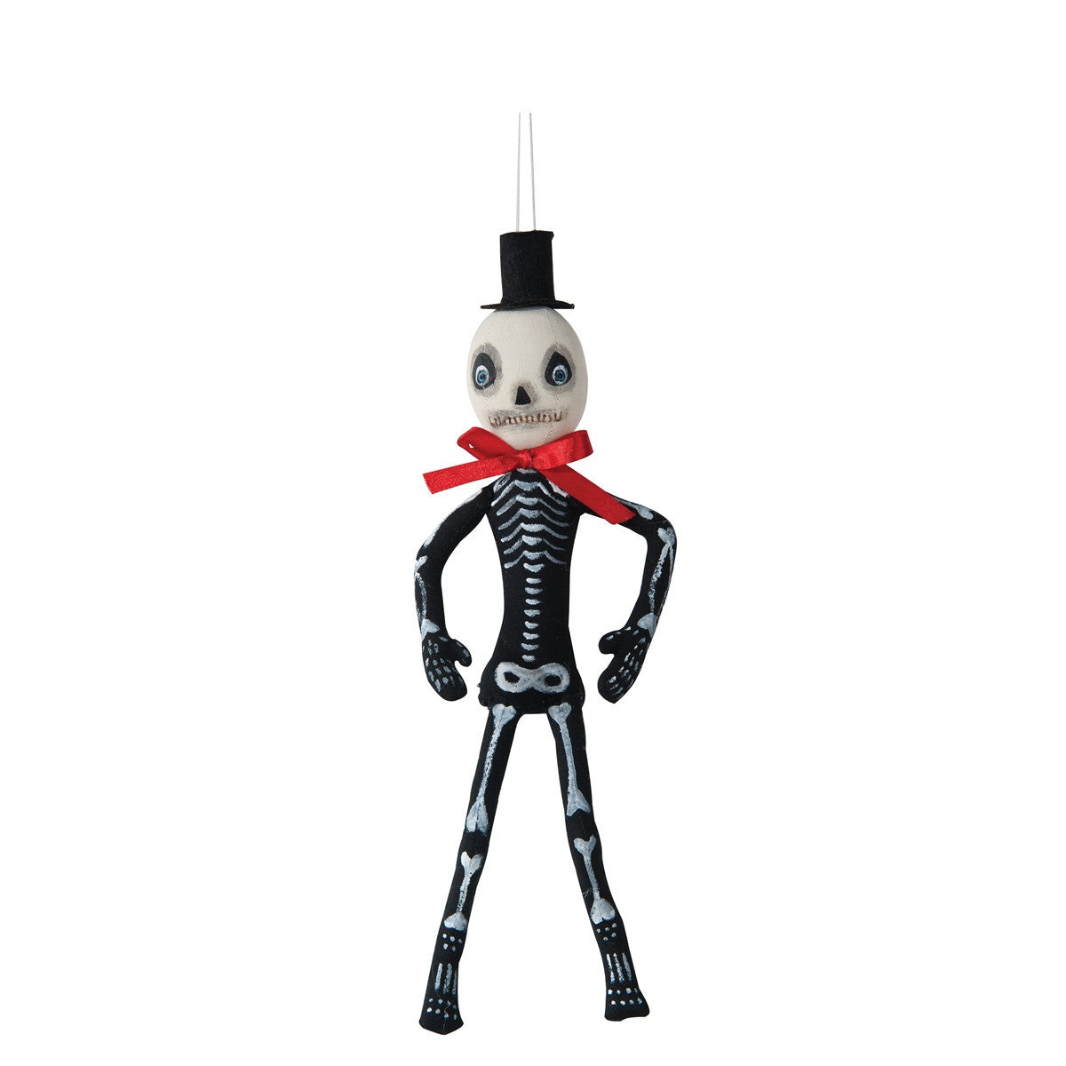 Skelly Skeleton Cloth Halloween Ornament by Joe Spencer
