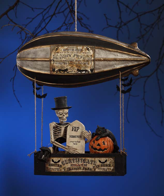 Skinny Pete's Dirgible - Skeleton in Airship by Bethany Lowe