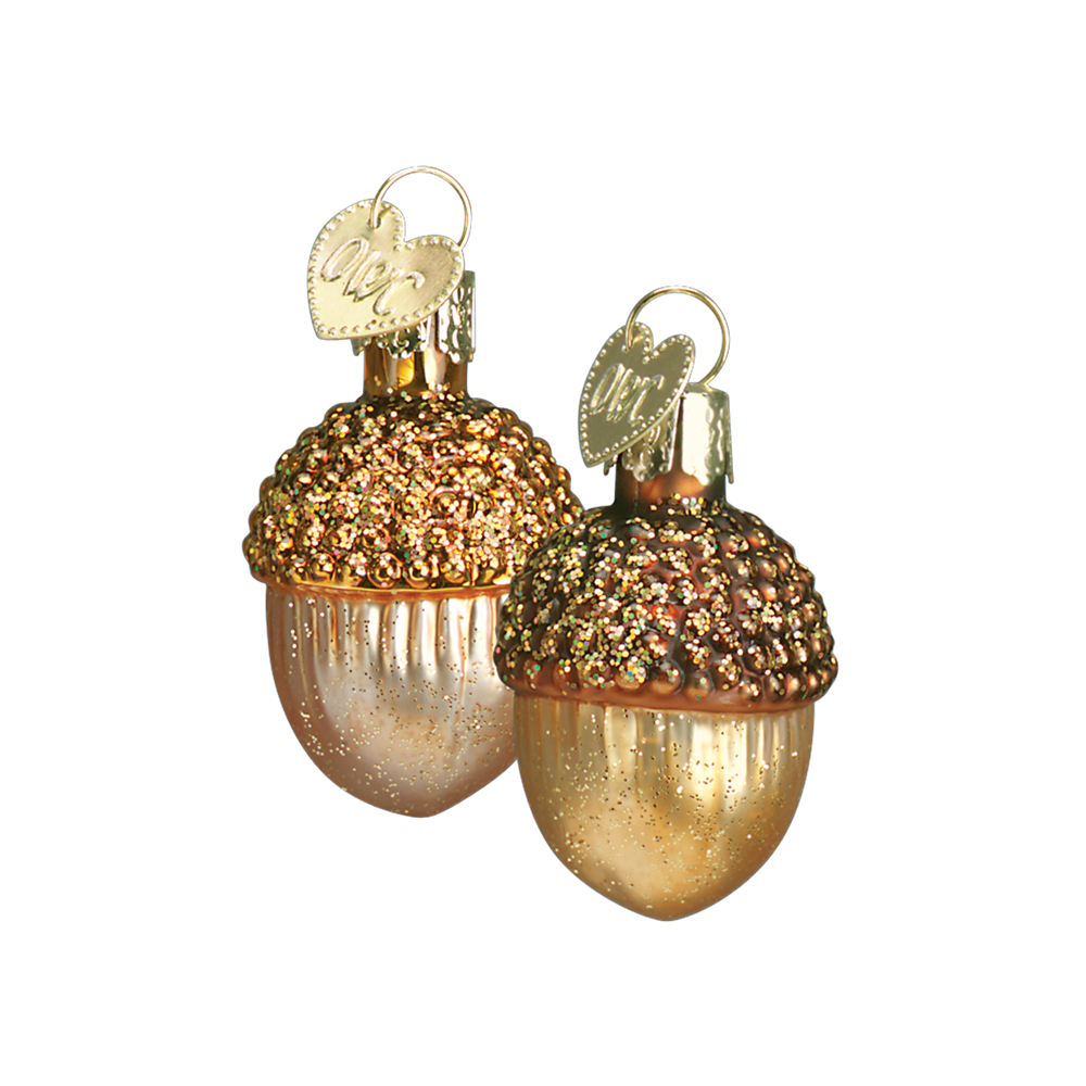 Small Glass Acorn Ornaments