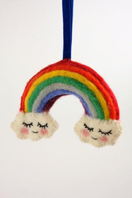 Happy Days Felt Rainbow Ornament
