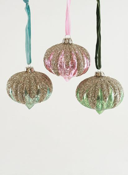 Pastel Snowcapped Ornaments