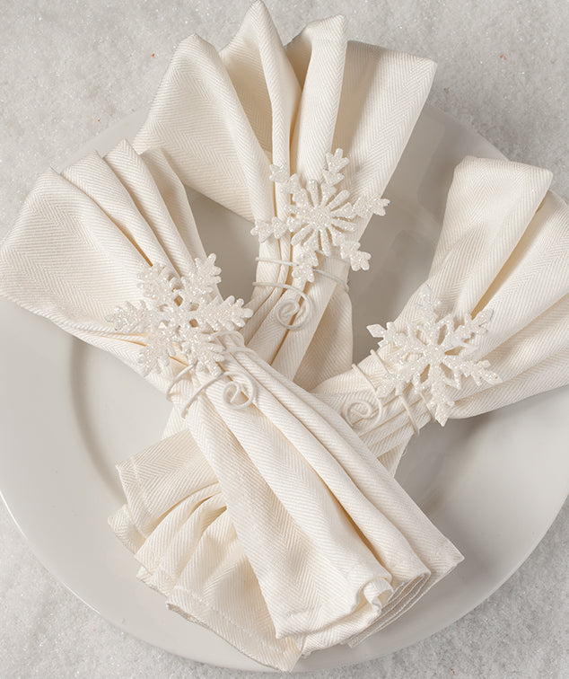 Snowflake Napkin Holders by Bethany Lowe