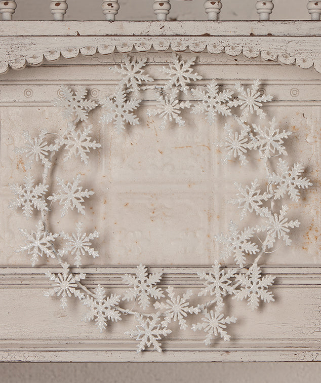 Snowflake Tin Wreath by Bethany Lowe