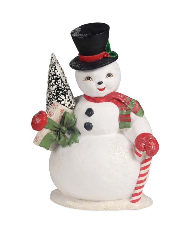 Bethany Lowe Snowman Sam Figurine Retro Christmas Decorations