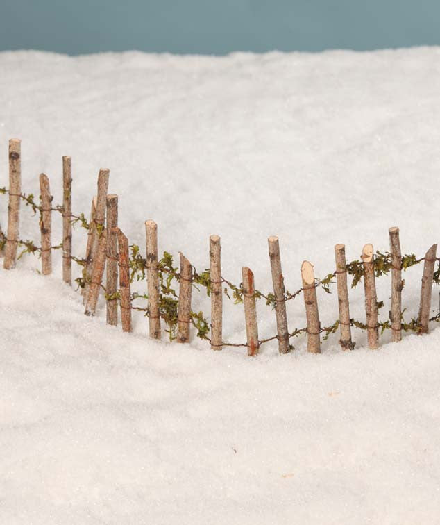Snowy Twig Fence for Christmas Villages