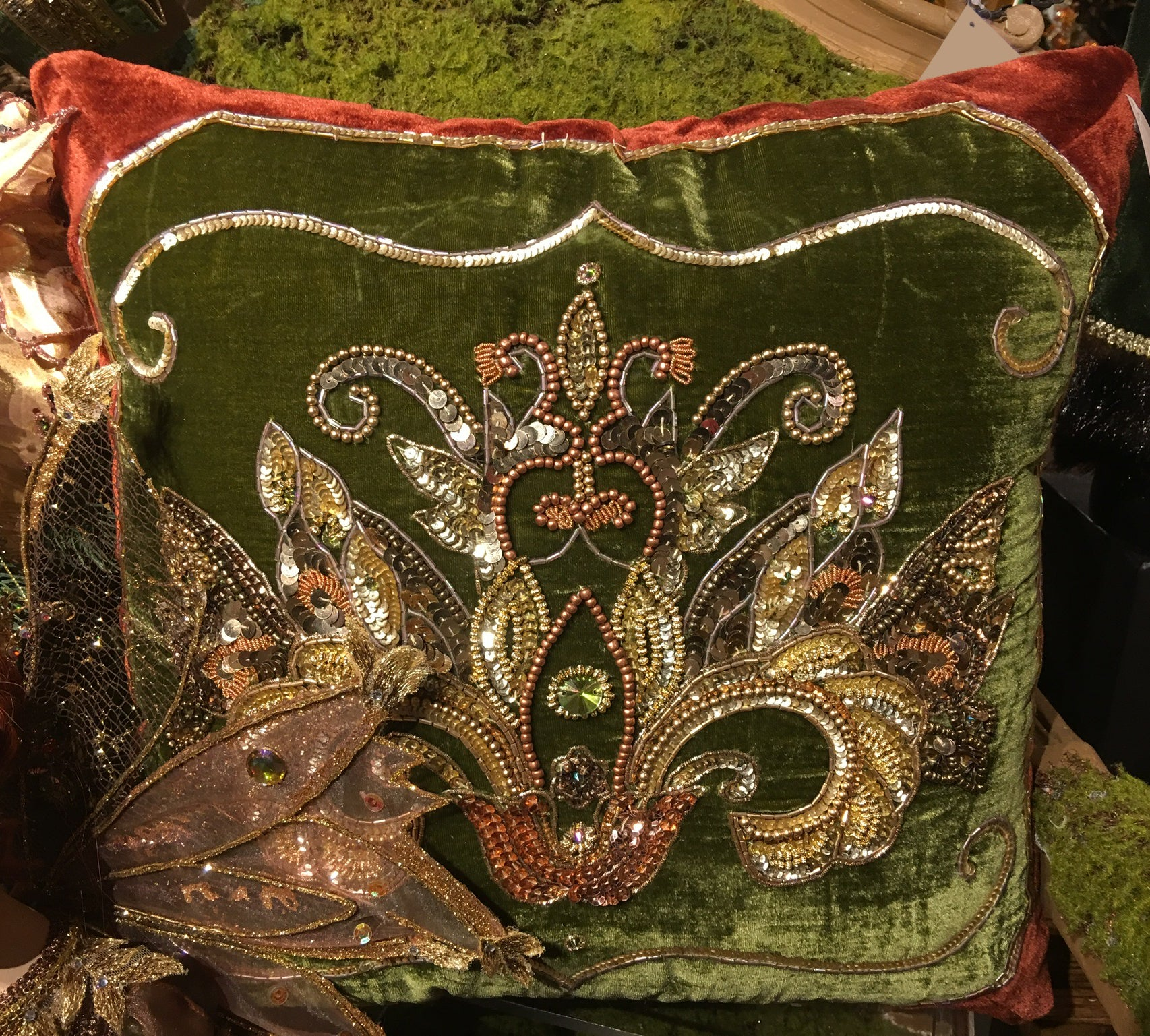 Spice Traditions Velvet Pillow Cover by Katherine's Collection