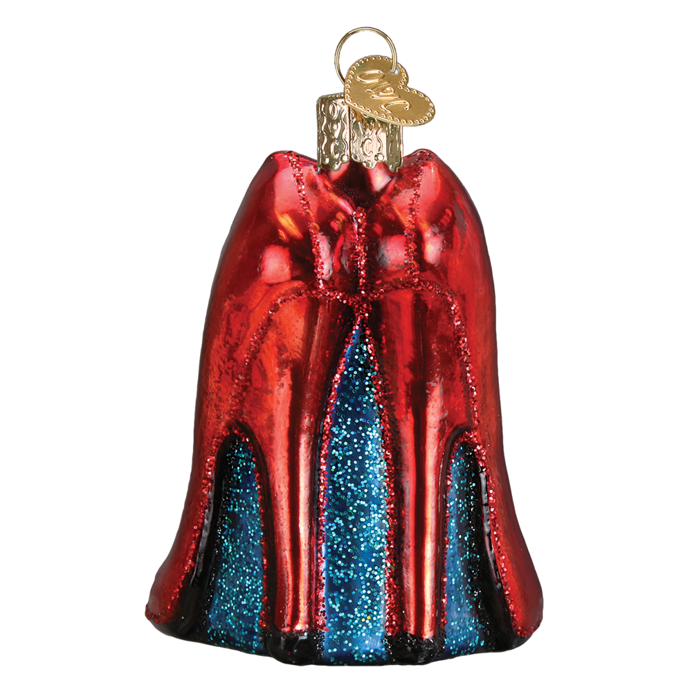 Old World Christmas Glass Blown Ornament Glamour Heels 32266