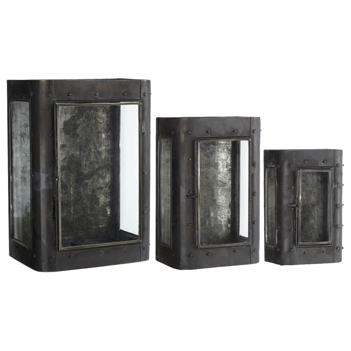 Spooky Antiqued Curio Sconce Set