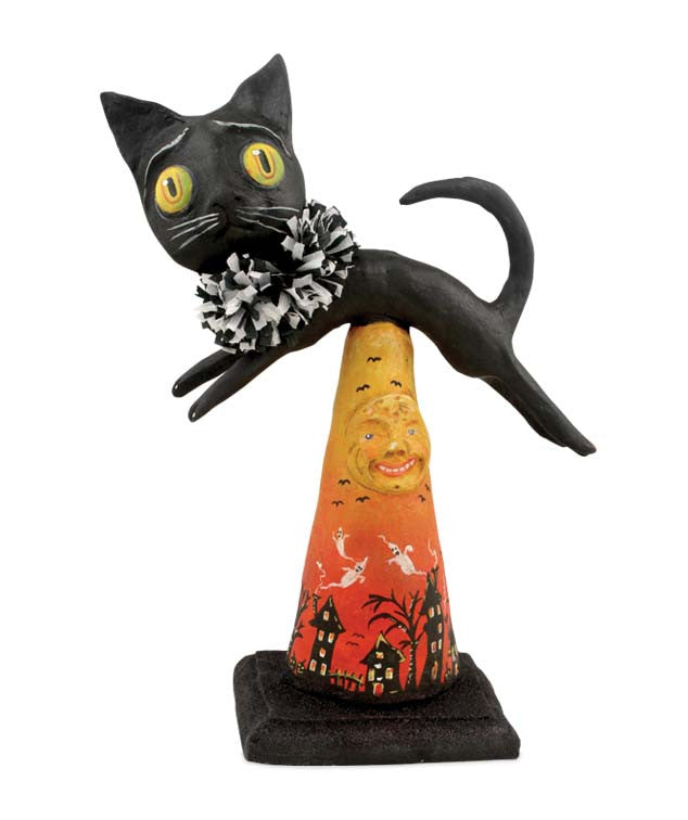 Spooky Kitty Halloween Figurine by Debra Schoch