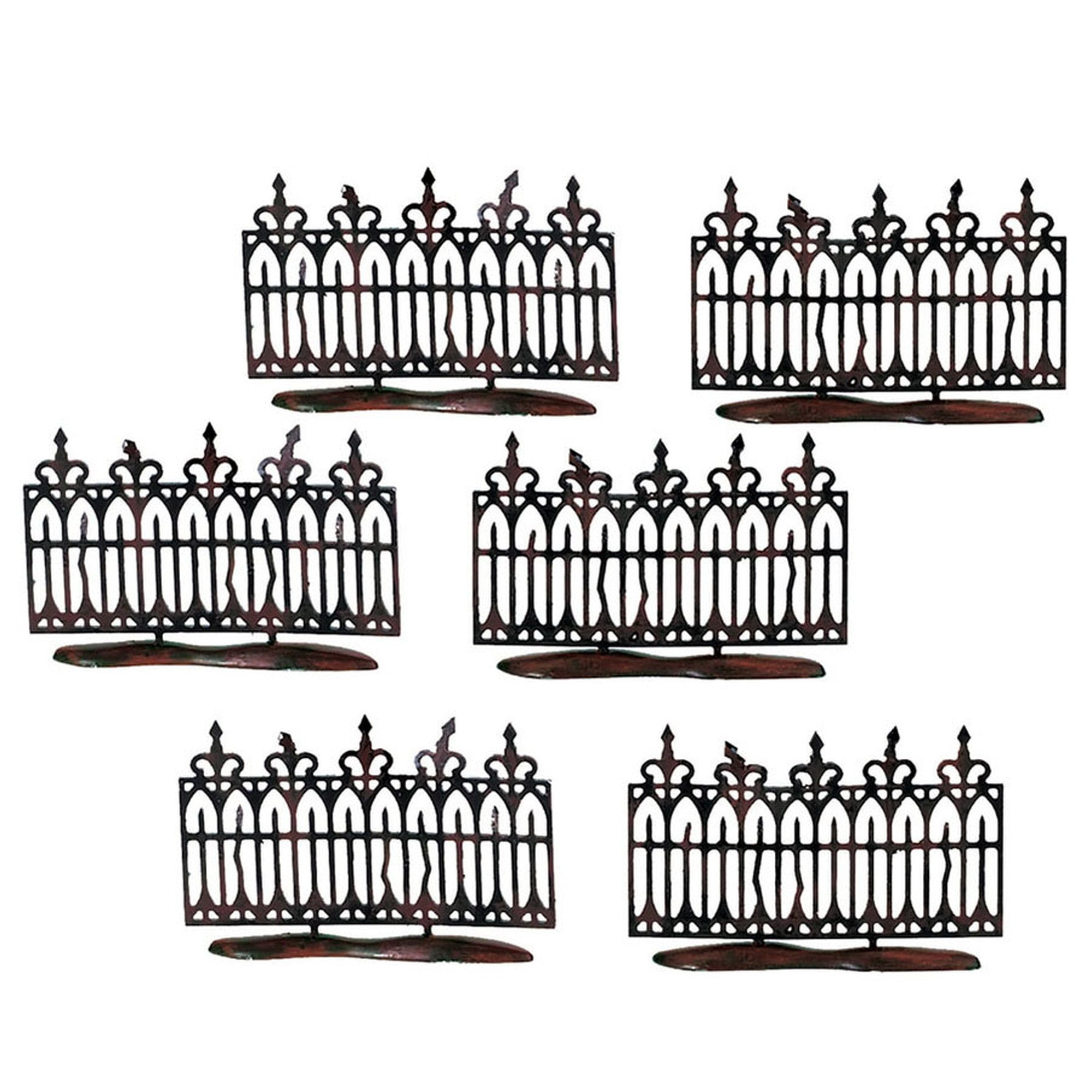 Spooky Wrought Iron Fence - Halloween Village Accessories
