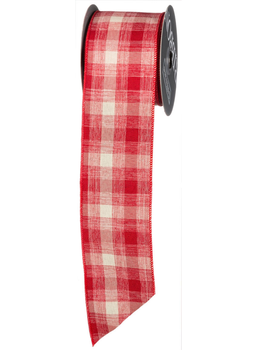 Homespun Red Gingham Ribbon