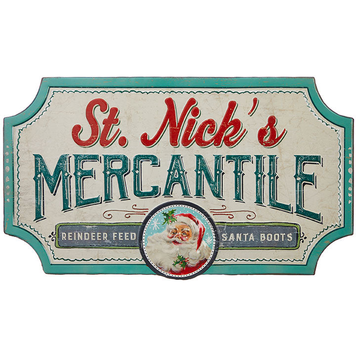 St. Nick's Mercantile Sign
