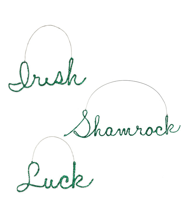 St. Patricks Day Cursive Word Ornaments