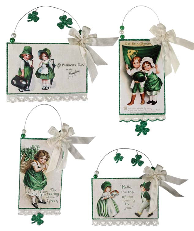 St. Patrick's Day Postcard Ornaments