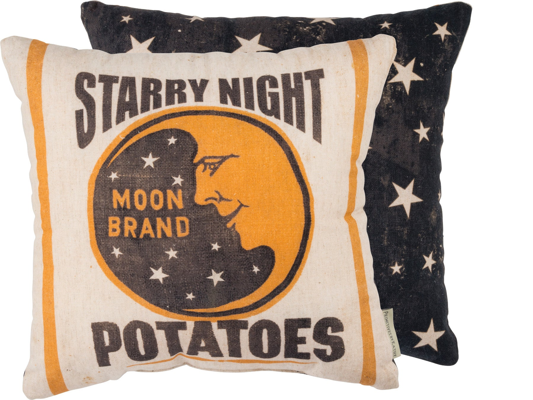 Starry Night Moon Pillow - Vintage Halloween Crescent