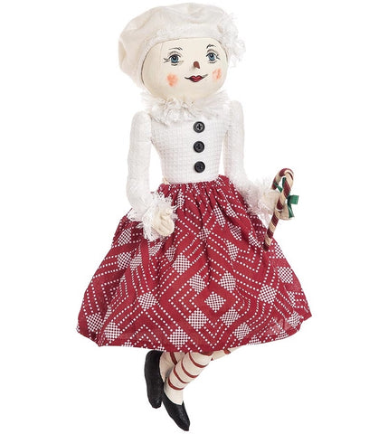 "Sterling Snowman Joe Spencer Gathered Traditions Doll 18/"" Tall New Handmade"