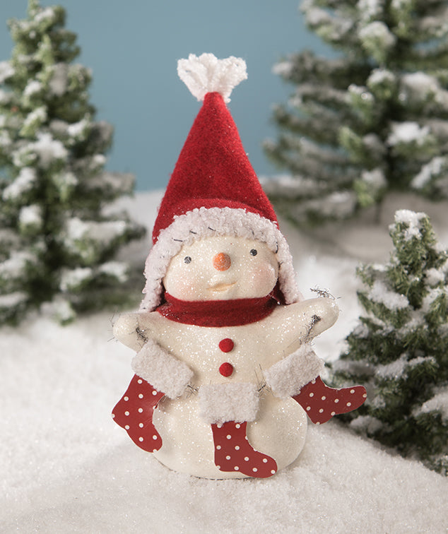 Cute Snowman Figurine with Hat