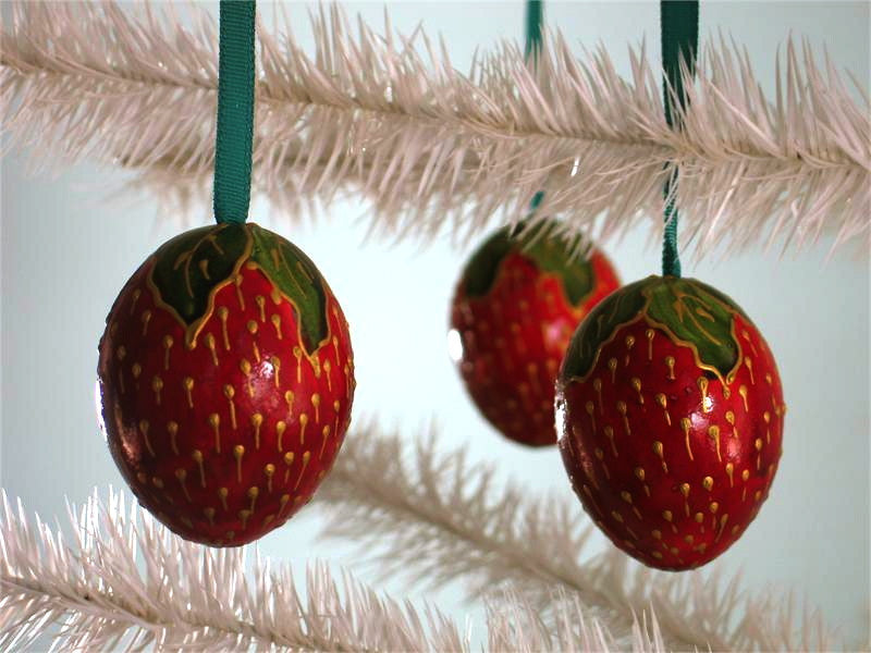 Strawberry Egg Ornaments