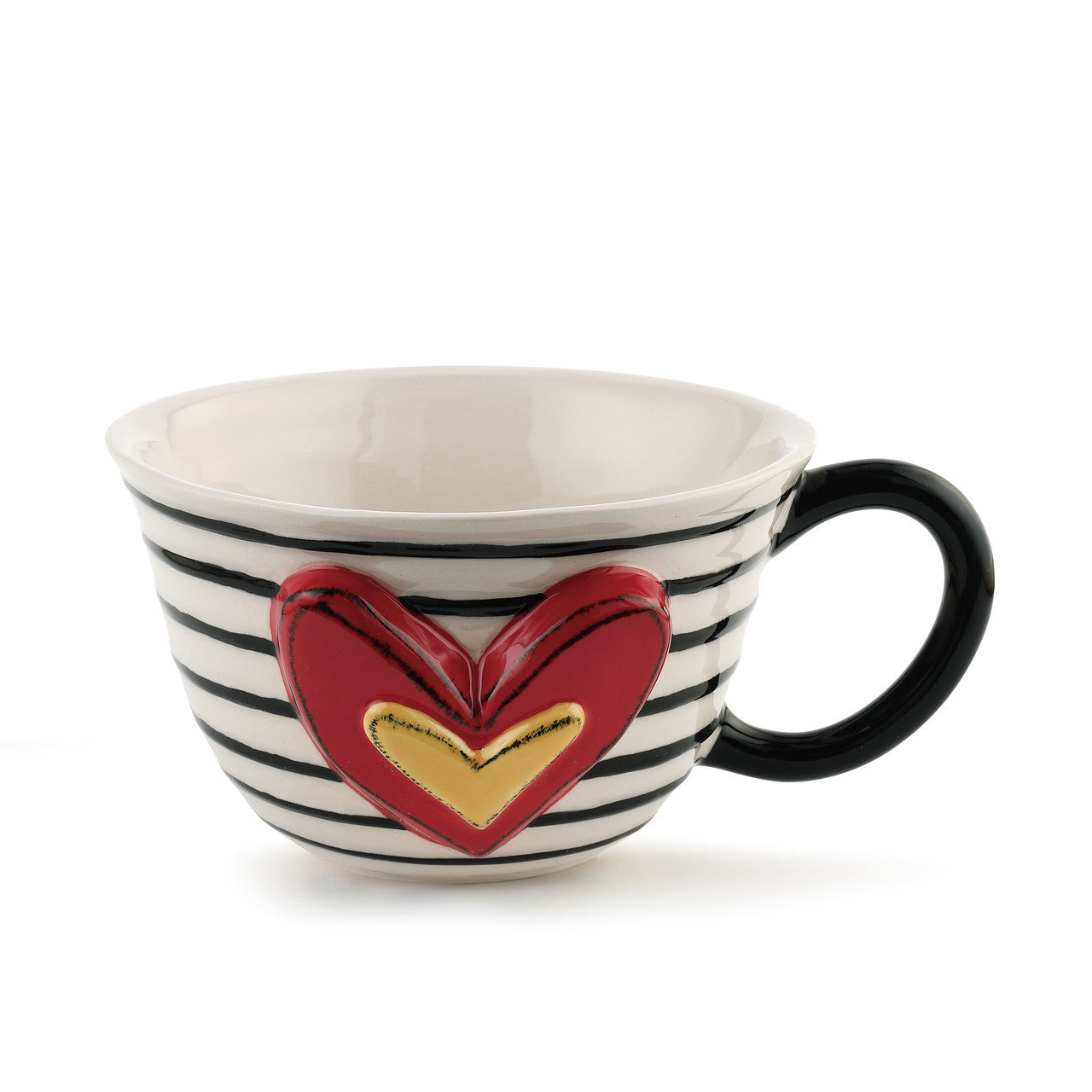 Stripes and Hearts Tea Cup